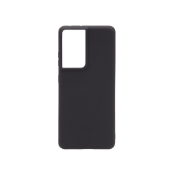 Samsung Galaxy S21 Ultra - Gumiran ovitek (TPU) - črn M-Type