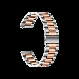 Kovinski pašček (20mm) - Silver Rose Gold