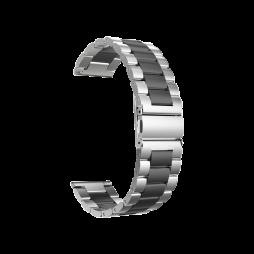 Kovinski pašček (22mm) - Silver Black