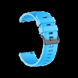 Silikonski pašček (22mm) - neon moder
