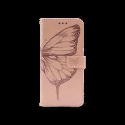 Samsung Galaxy A02s - Preklopna torbica (WLGO-Butterfly) - roza-zlata