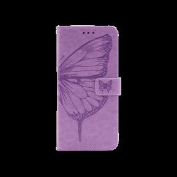 Samsung Galaxy A02s - Preklopna torbica (WLGO-Butterfly) - vijolična