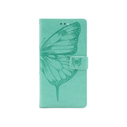 Samsung Galaxy A12 - Preklopna torbica (WLGO-Butterfly) - turkizna