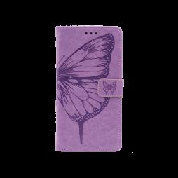 Samsung Galaxy A12 - Preklopna torbica (WLGO-Butterfly) - vijolična