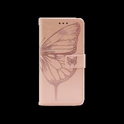 Samsung Galaxy A32 4G - Preklopna torbica (WLGO-Butterfly) - roza-zlata