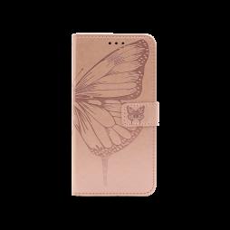 Samsung Galaxy A72 5G - Preklopna torbica (WLGO-Butterfly) - roza-zlata