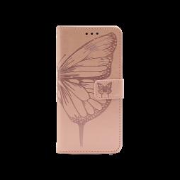 Samsung Galaxy S21 - Preklopna torbica (WLGO-Butterfly) - roza-zlata