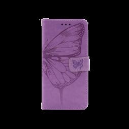 Samsung Galaxy S21 - Preklopna torbica (WLGO-Butterfly) - vijolična