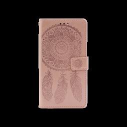 Samsung Galaxy A12 - Preklopna torbica (WLGO-Dreamcatcher) - roza-zlata