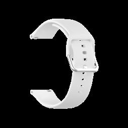 Silikonski pašček za Samsung Watch4 (20mm) - bel