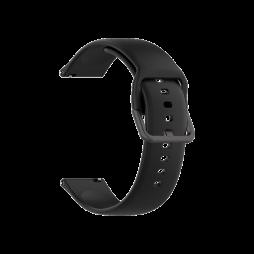Silikonski pašček za Samsung Watch4 (20mm) - črn
