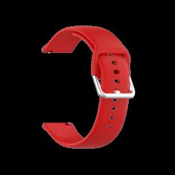 Silikonski pašček za Samsung Watch4 (20mm) - rdeč