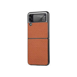 Samsung Galaxy Z Flip 3 5G - Okrasni pokrovček (81) - rjav
