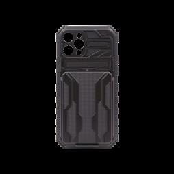 Apple iPhone 12/ 12 Pro - Gumiran ovitek (ARM-05) - črn