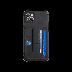 Apple iPhone 13 mini - Gumiran ovitek z žepkom (TPUL) - črn