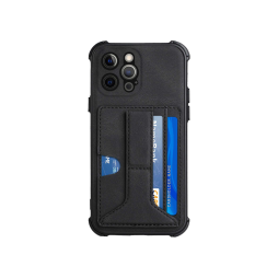 Apple iPhone 12/ 12 Pro - Gumiran ovitek z žepkom (TPUL) - črn