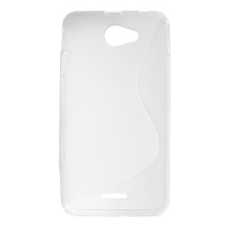 HTC Desire 516 - Gumiran ovitek (TPU) - belo-prosojen SLine