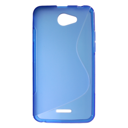 HTC Desire 516 - Gumiran ovitek (TPU) - modro-prosojen SLine