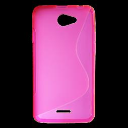 HTC Desire 516 - Gumiran ovitek (TPU) - roza-prosojen SLine