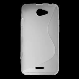 HTC Desire 516 - Gumiran ovitek (TPU) - sivo-prosojen SLine