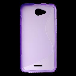 HTC Desire 516 - Gumiran ovitek (TPU) - vijolično-prosojen SLine